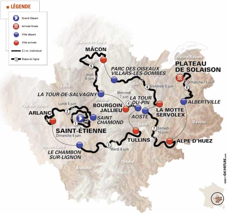 Carte du Dauphine 2017